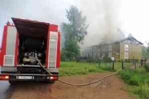 В пос. Приводино Котласского района пожаром повреждён 2-этажный деревянный дом