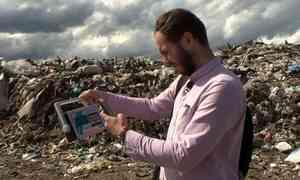 На Новодвинском полигоне твердых коммунальных отходов сегодня дежурил «Экопост»