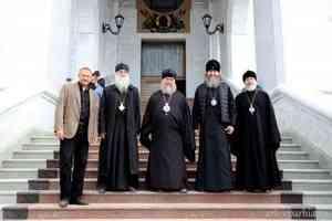 Митрополит Астанайский Александр осмотрел строящийся собор в Архангельске
