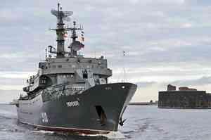 В Архангельске пришвартовался корабль «Перекоп»