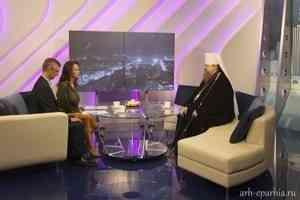 Митрополит Корнилий посетил телерадиокомпанию «Поморье»
