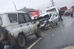 Пятеро детей пострадали в ДТП на Окружном шоссе Архангельска