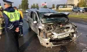 Четверо детей и23-летня девушка пострадали всерьёзном ДТП вАрхангельске