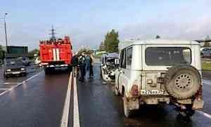 В Архангельске в ДТП с тремя автомобилями пострадало четверо детей