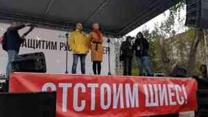 На антимусорном митинге в Архангельске Игорю Орлову пригрозили импичментом