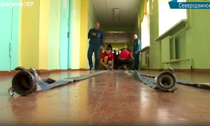 Северодвинские школьники примерили насебя профессию пожарного