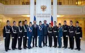 Вельские кадеты побывали в гостях у архангельского сенатора в Совете Федерации