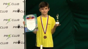 Юный архангельский теннисист вернулся в столицу Поморья из Москвы с бронзой