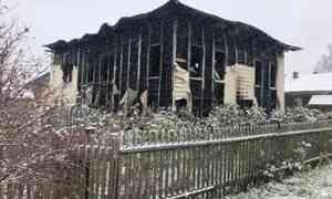 ВПриморском районе произошёл крупный пожар вчастном доме