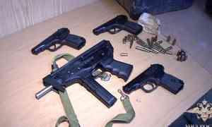 Внушительную партию оружия ибоеприпасов изъяли ужителя Архангельска