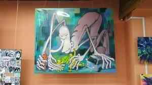 «Увидели политический подтекст»: с выставки в Архангельске убрали картину с многоруким существом
