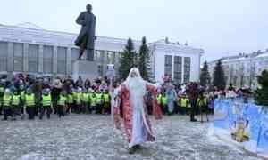 В Северодвинске зажгли огни на главной ёлке города