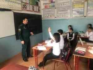 В школах республики проходят обучающие занятия по основам безопасности жизнедеятельности
