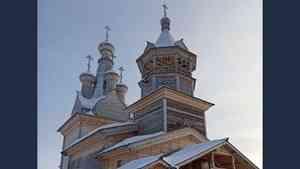 Завершены работы по воссозданию исторического облика церкви в Кимже