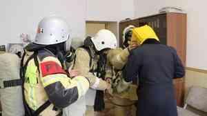 В  администрации Кайтагского района прошли пожарно-тактические учения