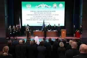 Митрополит Корнилий принял участие в церемонии вручения знамени службе судебных приставов по Архангельской области
