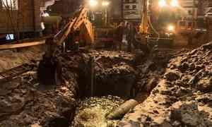 Авария на водопроводе в центре Архангельска полностью устранена, водоснабжение города восстановлено