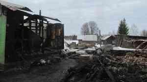 В Вельском районе без жилья и имущества осталась семья