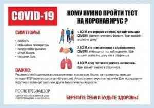 Кому нужно пройти тест на коронавирус?
