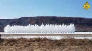 В Амурской и Новосибирской областях проведены первые подрывы льда на водоёмах (видео)