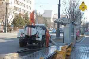 МЧС России: продезинфицировано 430 км автодорог и 650 вокзалов и остановочных пунктов