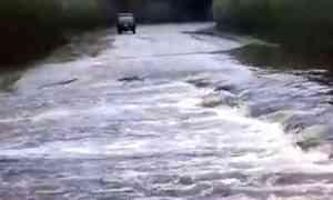 Около двухсот участков региональных дорог оказались подтоплены завремя паводка вАрхангельской области