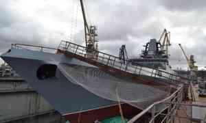 ВСанкт-Петербурге спустили наводу новый фрегат для Северного флота