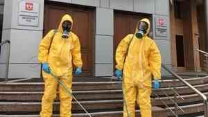 Модный лук для дезинфекции Архангельского областного суда: сколько стоит костюм спасателя?