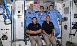 Северянин Иван Вагнер встретил астронавтов NASA наборту МКС