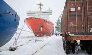 Атомный лихтеровоз «Севморпуть» доставил наЗемлю Франца-Иосифа 15 тысяч тонн стройматериалов