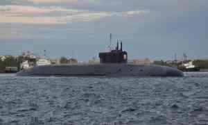 Новейший подводный крейсер «Князь Владимир» прибыл вглавную базу подводных сил Северного флота Гаджиево