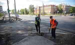 ВАрхангельске стартовал дополнительный ремонт дорог