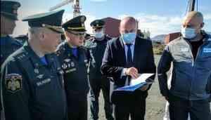 Вопросы строительства пожарного депо в Арктической зоне обсуждали сегодня в ходе рабочей поездки Первого заместителя Министра МЧС России