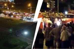 Резиновые пули летят в людей и по окнам, автомобили громят: в Белоруссии третью ночь протесты