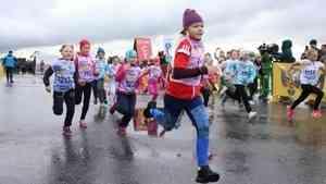 На старт, внимание, марш!: в Архангельске «Кросс нации» начался с детских забегов