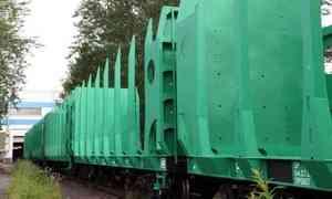 «Объединённая вагонная компания» поставила «Архбуму» новую партию платформ для леса