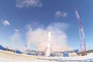 С космодрома Плесецк запустили ракету «Союз-2» со спутниками борту