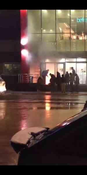В Котласе горел торговый центр «Столица»
