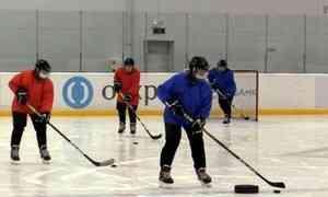 Вызов выйти склюшкой налёд Президенту сделала команда бабушек-хоккеисток изУстьянского района