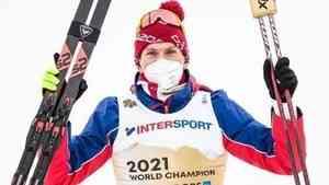Александр Большунов стал чемпионом мира по лыжным гонкам
