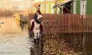 Вархангельской Цигломени затоплены дворы идома