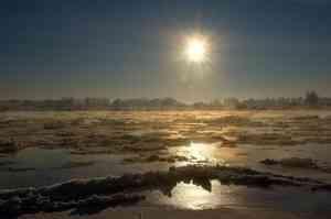 В Архангельской области продолжается ледоход и вскрытие рек