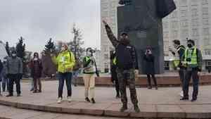 Архангелогородцы вышли на несанкционированную акцию на площадь Ленина