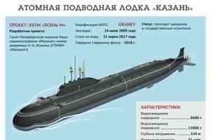 АПЛ «Казань» примут в состав флота 7 мая