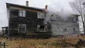 В Холмогорском районе ночью произошёл пожар в почтовом отделении