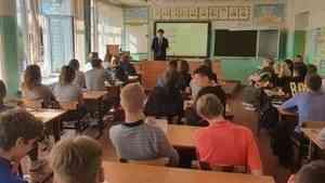 Победитель конкурса «Лидеры России» Александр Спиридонов встретился со школьниками Коноши