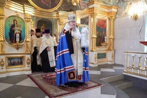 Митрополит Корнилий в праздник прославления праведного Иоанна Кронштадтского совершил славление в Ильинском соборе