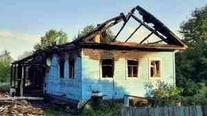 Мать и сын погибли при пожаре в частном доме в Вельском районе