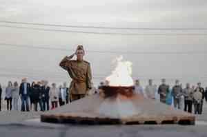 В День памяти и скорби в Архангельске зажгли свечи памяти