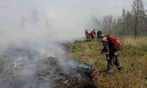 В Якутии за сутки ликвидировали 45 природных пожаров